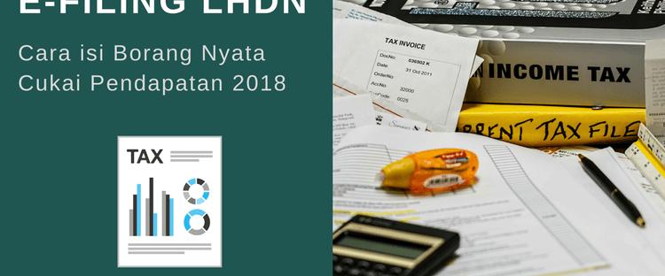 E Filing Lhdn Panduan Mengisi Borang Be Secara Online 2018